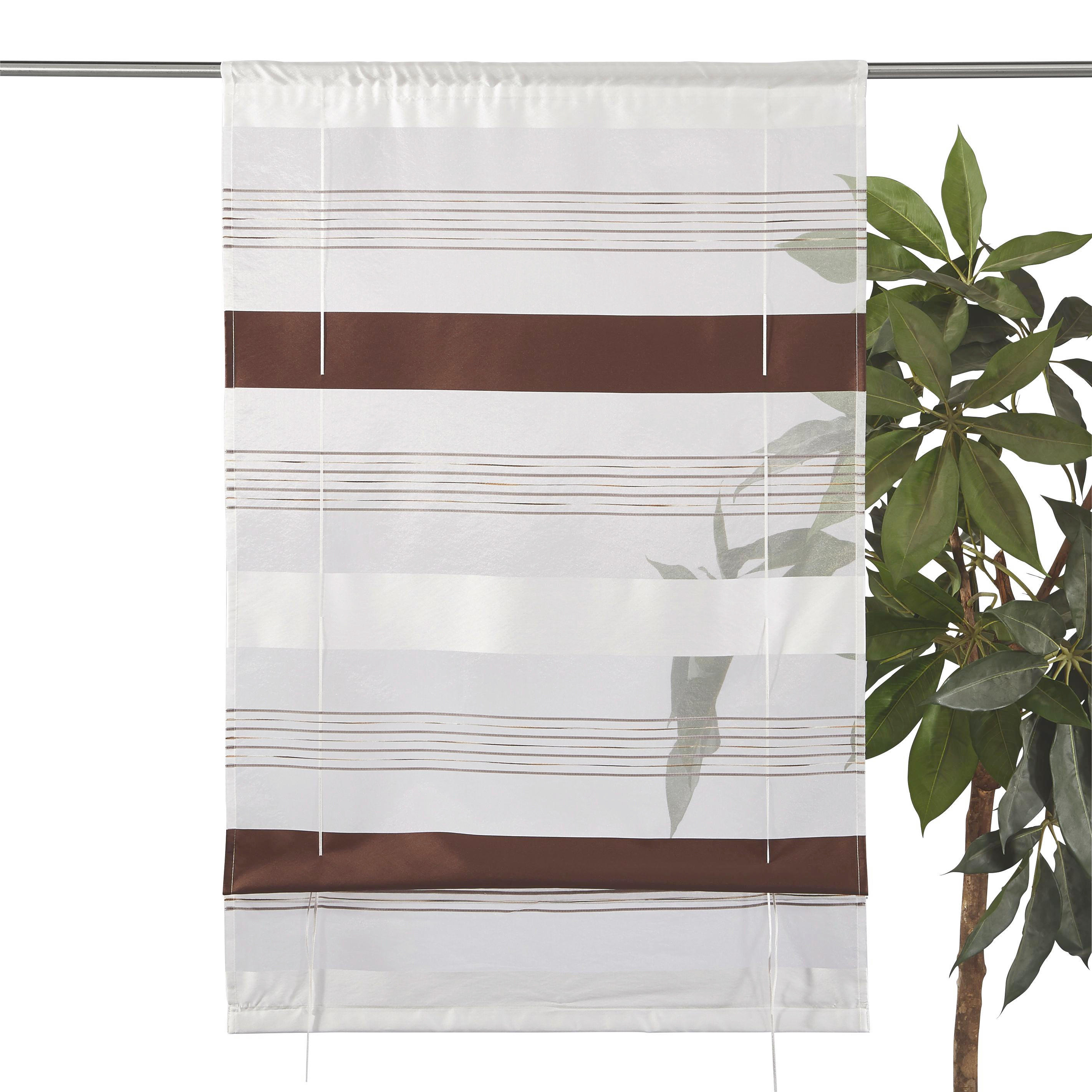 RAFFROLLO  halbtransparent   60/130 cm - Braun, Textil (60/130cm) - ESPOSA