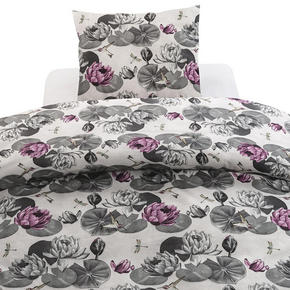 PÅSLAKANSET - grå/syrén, Basics, textil (50/150/60/210cm)