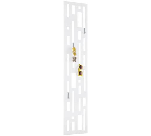 WANDPANEEL lackiert Weiß  - Weiß, Design, Metall (30/150/3cm) - Carryhome