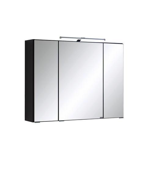 SPIEGELSCHRANK Graphitfarben - Anthrazit/Graphitfarben, Design, Glas/Holzwerkstoff (80/64/20cm) - Xora