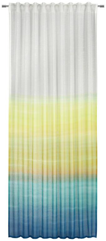 FERTIGVORHANG  transparent  135/245 cm - Türkis/Gelb, Trend, Textil (135/245cm) - Esposa