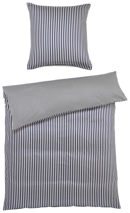 BETTWÄSCHE Satin Dunkelblau 135/200 cm - Dunkelblau, Basics, Textil (135/200cm) - Janine