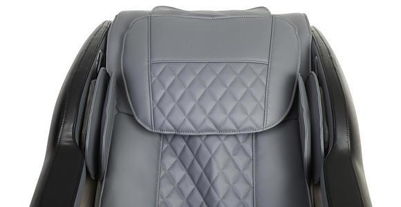 MASSAGESESSEL in Textil Grau, Schwarz  - Schwarz/Grau, Design, Textil (75/117/160cm) - Cantus
