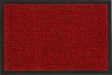 FUßMATTE 60/80 cm  - Dunkelrot, KONVENTIONELL, Kunststoff/Textil (60/80cm) - Esposa