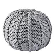 POUF Textilgeflecht Hellgrau - Hellgrau, Design, Textil (50/35/50cm) - Carryhome