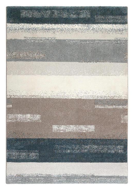 WEBTEPPICH  133/200 cm  Blau, Silberfarben, Weiß - Blau/Silberfarben, Basics, Textil (133/200cm) - Esprit