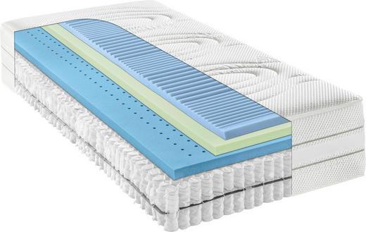 TASCHENFEDERKERNMATRATZE 180/200 cm 35 cm - Weiß, Basics, Textil (180/200cm) - Bentley