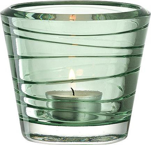 TEELICHTGLAS - Grün, Basics, Glas (9,30/8,00cm) - Leonardo