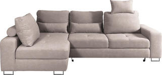 WOHNLANDSCHAFT in Textil Beige  - Beige, Design, Textil/Metall (188/260cm) - Hom`in