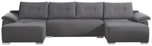WOHNLANDSCHAFT Anthrazit Rückenkissen - Chromfarben/Anthrazit, Design, Textil/Metall (376/67/178cm) - Carryhome
