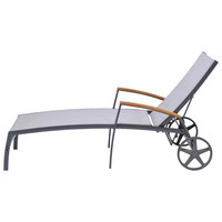 LEŽALJKA VRTNA - siva/prirodne boje, Design, drvo/metal (77,6/180cm) - Ambia Garden