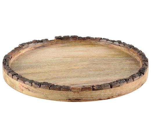 DEKOTELLER - Braun, Natur, Holz (27/2cm)
