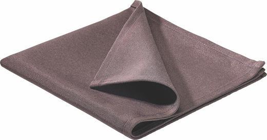 SERVIETTE  Textil  Braun  40/40 cm - Braun, Basics, Textil (40/40cm)
