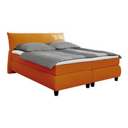 BOXSPRINGBETT 180 cm   x 200 cm   in Textil Orange - Schwarz/Orange, Design, Holz/Textil (180/200cm) - Tom Tailor