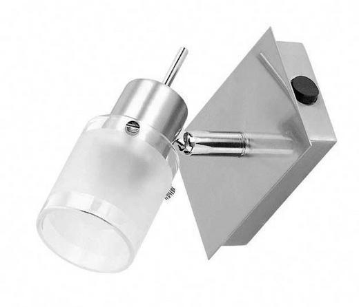DECKENLEUCHTE - Weiß/Nickelfarben, Design, Glas/Metall (11/7/10cm) - Boxxx