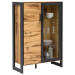 VITRINE Eiche furniert Alteiche  - Alteiche/Eichefarben, Trend, Glas/Holz (98/141/40cm) - Carryhome