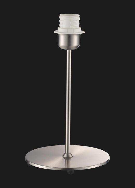 TISCHLEUCHTE - Nickelfarben, Design, Metall (16/27cm)