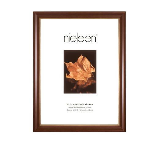 BILDERRAHMEN  Dunkelbraun - Dunkelbraun, Basics, Holz (13/18cm) - Nielsen