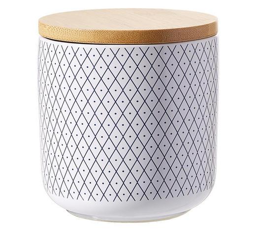 DÓZA NA POTRAVINY - bílá/modrá, Lifestyle, dřevo/keramika (10/11cm) - Landscape