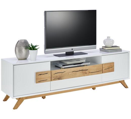 TV-ELEMENT 178/53,6/40 cm - Eichefarben/Weiß, Design, Holz/Holzwerkstoff (178/53,6/40cm) - Xora