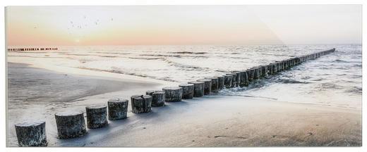Landschaft & Natur, Sonnenuntergang, Strand & Meer GLASBILD - Multicolor, Basics, Glas (125/50cm)