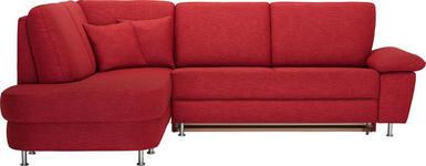 WOHNLANDSCHAFT Rot  - Rot/Alufarben, KONVENTIONELL, Textil/Metall (212/262cm) - Venda