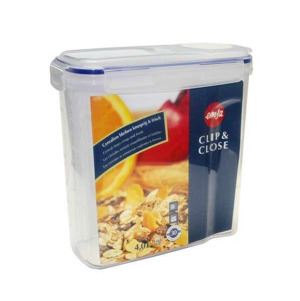 FRISCHHALTEDOSE 4,00 L - Blau/Transparent, Basics, Kunststoff (11.4/24.5/24.8cm) - EMSA