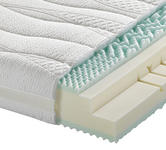 KALTSCHAUMMATRATZE 1 FOUR ME, MODELL 4 100/200 cm 22 cm - Weiß, Basics, Textil (100/200cm) - Dieter Knoll