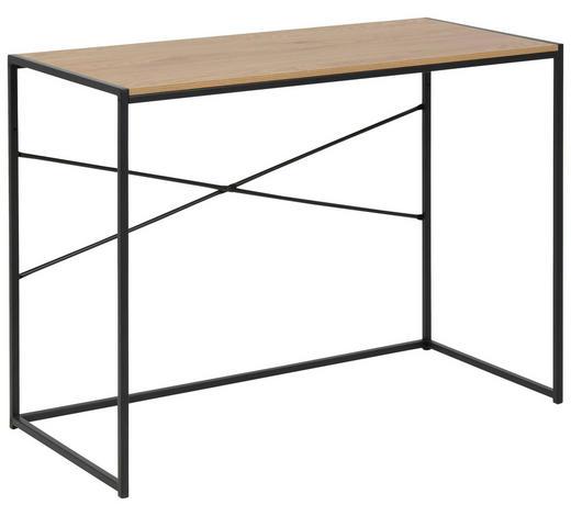 SCHREIBTISCH in Metall, Holzwerkstoff 100/75/45 cm  - Eichefarben/Schwarz, Trend, Holzwerkstoff/Metall (100/75/45cm) - Carryhome