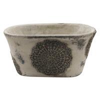 BLUMENTOPF - Grau, Design, Keramik (22/11cm)