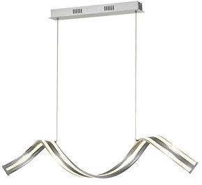 LED-PENDELLAMPA - silver, Design, metall (100/120cm) - Novel