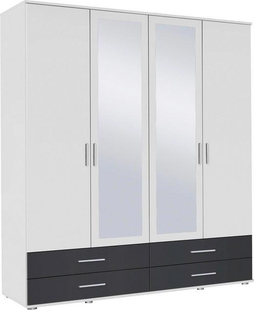 SKŘÍŇ ŠATNÍ, bílá, šedá - bílá/šedá, Konvenční, kompozitní dřevo/umělá hmota (168/188/52cm) - Boxxx