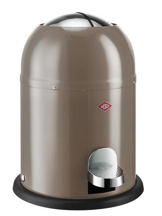 ABFALLSAMMLER SINGLE MASTER 9 L - Taupe/Edelstahlfarben, Kunststoff/Metall (30/40cm) - Wesco