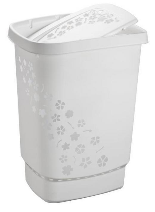 WÄSCHETONNE - Weiß, Basics, Kunststoff (44,7/34,7/60,4cm)