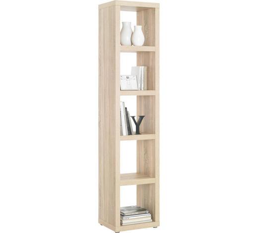 DĚLICÍ STĚNA, barvy dubu - barvy dubu/barvy hliníku, Design, kompozitní dřevo/umělá hmota (44/203/35cm)
