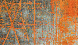 FUßMATTE 70/120 cm Graphik Grau, Orange  - Orange/Grau, Basics, Kunststoff/Textil (70/120cm) - Esposa