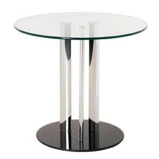 BEISTELLTISCH Schwarz - Schwarz, KONVENTIONELL, Glas/Metall (59/57cm)