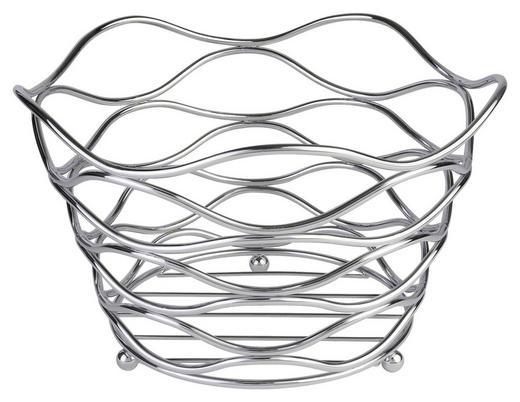 OBSTKORB 26/16 cm - Edelstahlfarben, Basics, Metall (26/16cm) - Justinus