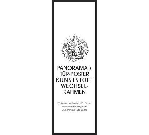 BILDERRAHMEN in Schwarz - Schwarz, KONVENTIONELL, Kunststoff (60/165/2cm)