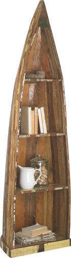 REGÁL VE TVARU ČLUNU - hnědá, Lifestyle, dřevo (58/205/45cm) - LANDSCAPE