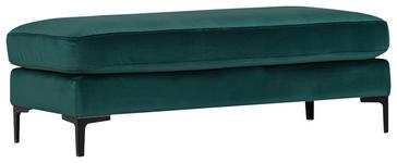 HOCKER Flachgewebe Grün  - Schwarz/Grün, KONVENTIONELL, Textil/Metall (140/48/60cm) - Voleo