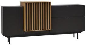 SIDEBOARD 195/66,2/47,1 cm  - Eichefarben/Anthrazit, Design, Glas/Holz (195/66,2/47,1cm) - Ambiente