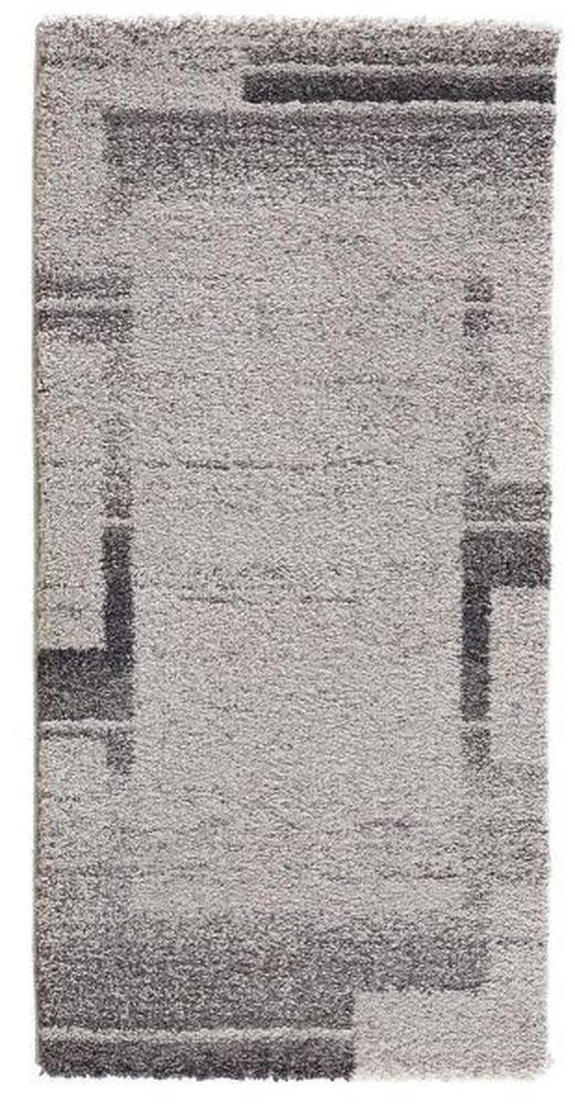 Webteppich ca. 67 x 130  67/130 cm  Creme, Grau - Creme/Grau, Basics, Textil (67/130cm) - Boxxx