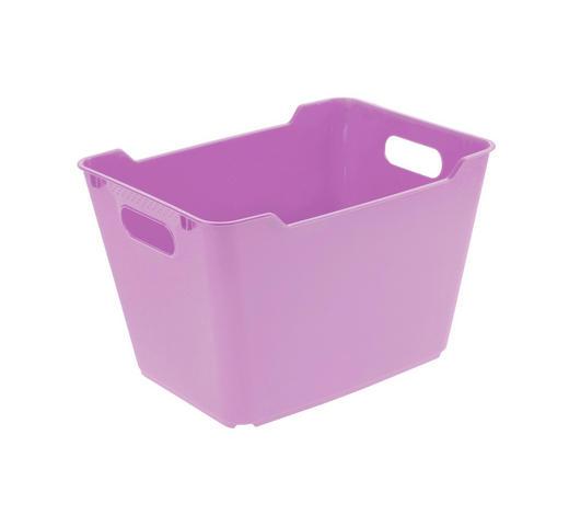 KOŠARA - roza, Basics, plastika (40/28/25cm)