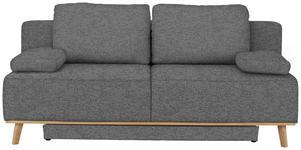 BOXSPRINGSOFA in Textil Grau  - Grau, MODERN, Holz/Textil (203/97/107cm) - Dieter Knoll
