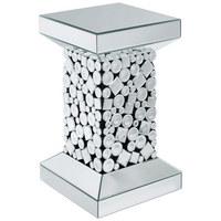 BEISTELLTISCH in Glas, Holzwerkstoff 30,5/30,5/51 cm  - Silberfarben/Schwarz, Design, Glas/Holzwerkstoff (30,5/30,5/51cm) - Ambia Home
