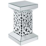ODKLÁDACÍ STOLEK - barvy stříbra/černá, Design, dřevěný materiál/sklo (30,5/51/30,5cm) - Ambia Home
