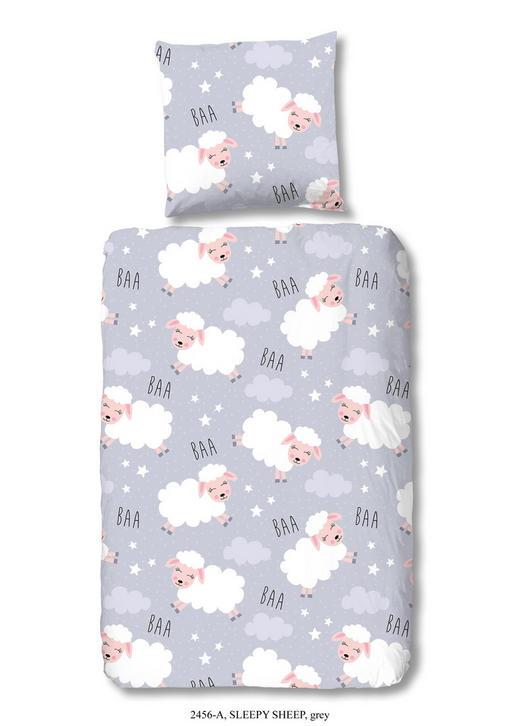 KINDERBETTWÄSCHE Renforcé Grau 135/200 cm - Grau, Trend, Textil (135/200cm)