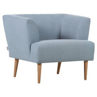KŘESLO, textil, světle modrá - přírodní barvy/světle modrá, Design, dřevo/textil (85/71/80cm) - Carryhome