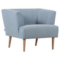 KŘESLO - přírodní barvy/světle modrá, Design, dřevo/textilie (85/71/80cm) - Carryhome